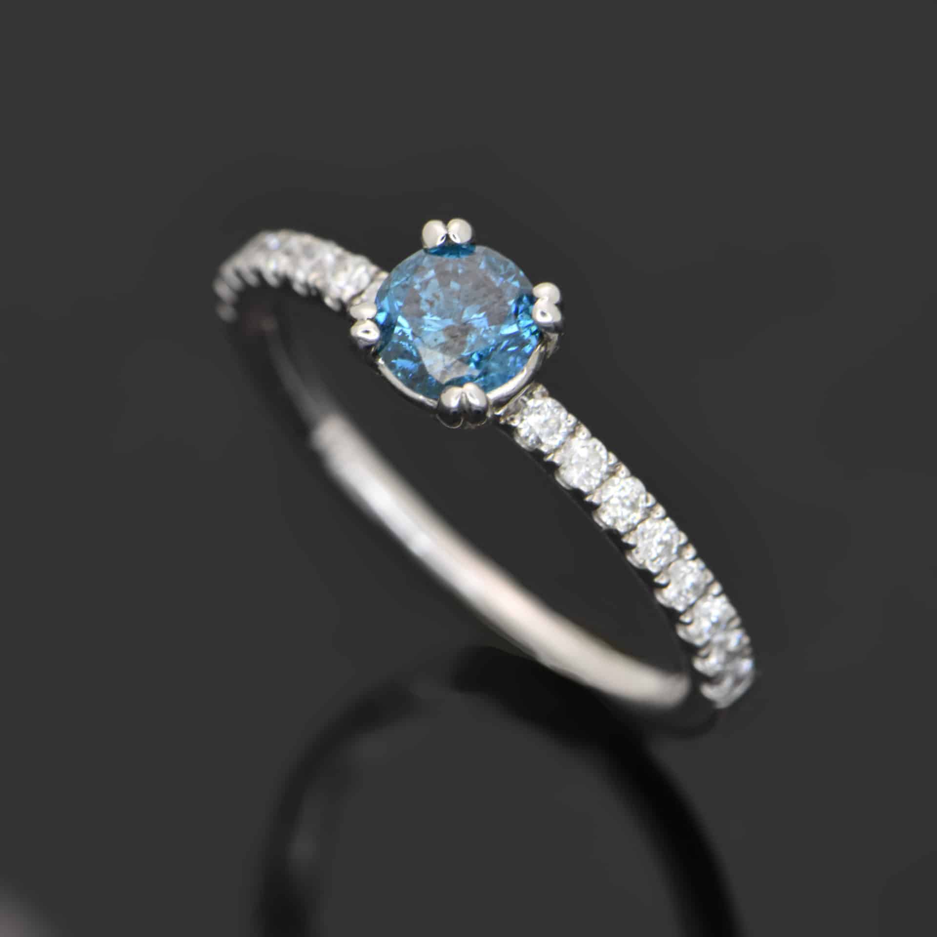 jewellery fancy rings diamond engagement ring blue