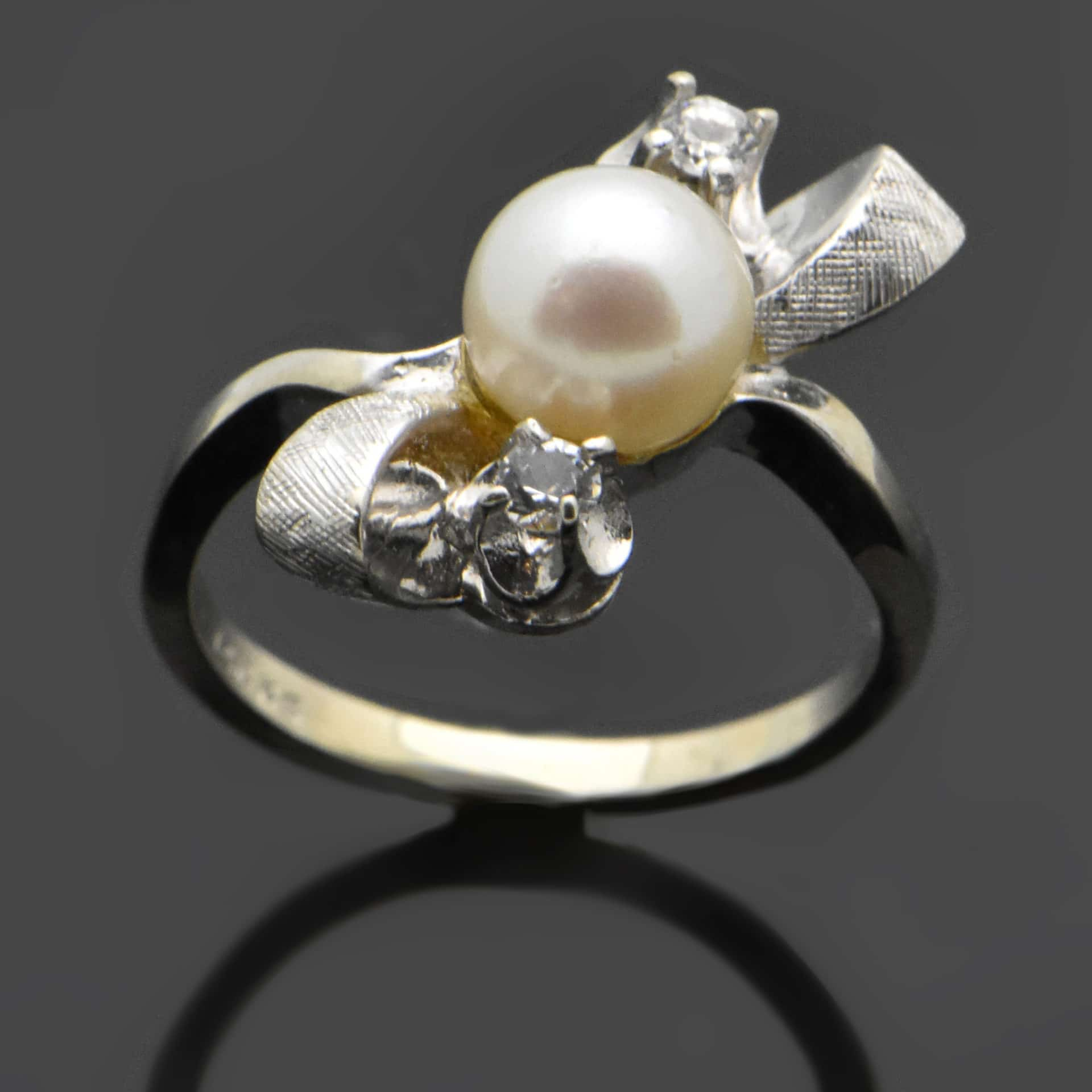 ring natural la bow pearl rings artisan product wedding
